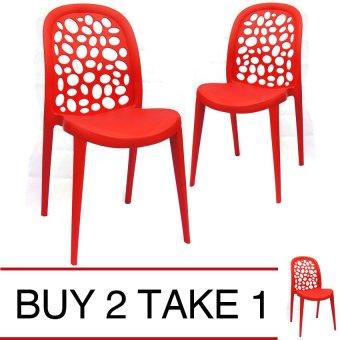 Sumo SC-23RED Designer Plastic Stacking Chair (Red) BUY 2 TAKE 1