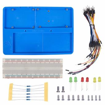 SunFounder RAB Holder Kit with 830 Points Solderless Circuit withBreadboard Jumper Wires LED Resistors for Arduino Uno R3 Mega -intl