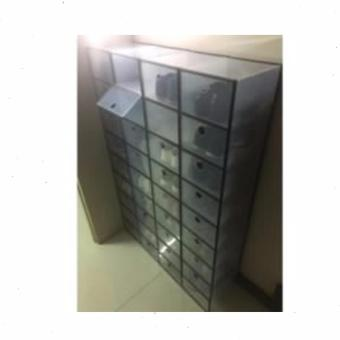 Sunnyware Shoe Mate Clear Collapsible Shoe Box - Large - 3