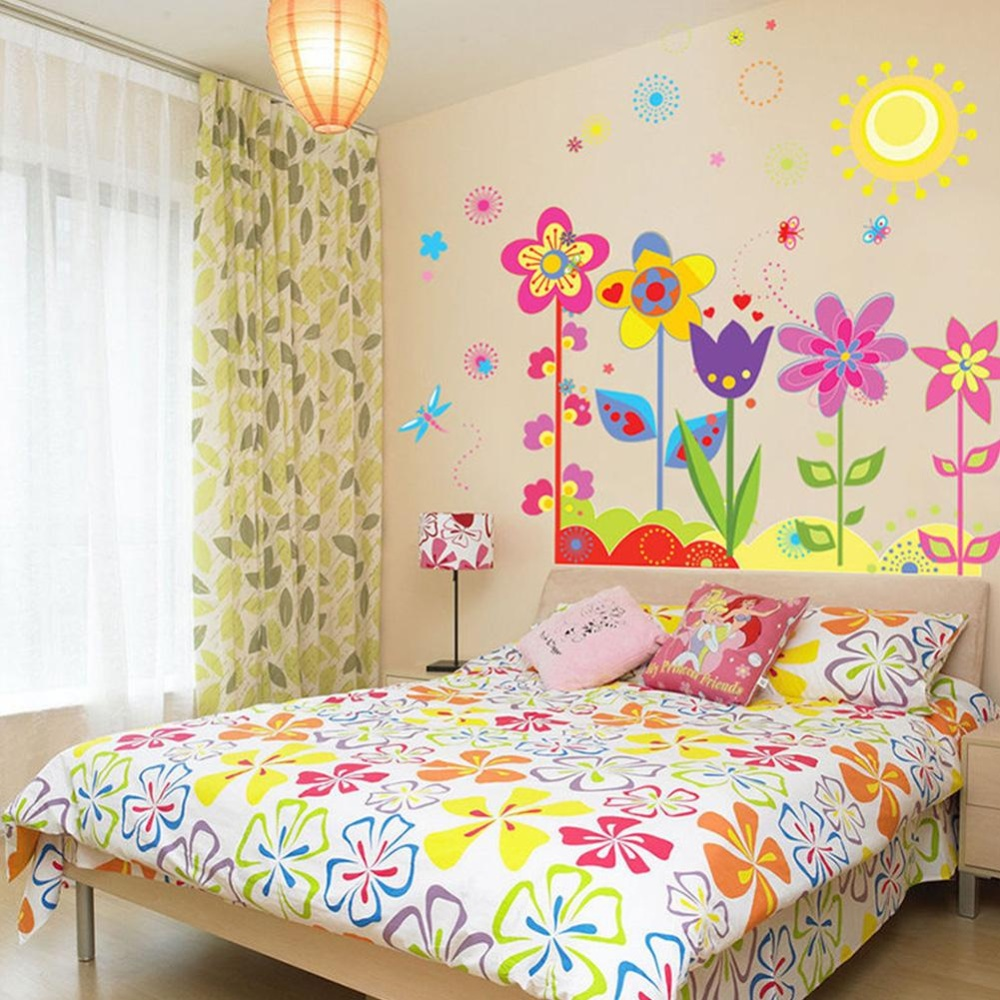Philippines | Sunshop Removable Colorful Sun Flowers Butterfly Wall ...