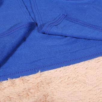Supper Home Winter Warm Fleece Snuggie Blanket Robe Cloak (Blue) (Intl) - 5
