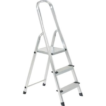 Sure Step Ft 3 Aluminum 3 Step Ladder With Handrail