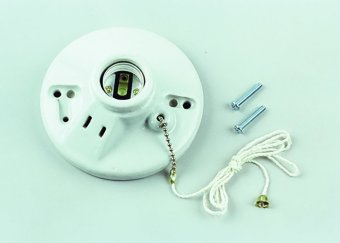 Surer 715 Pull Chain Receptacle (White) - 3