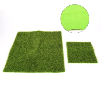 Synthetic Miniature Garden Ornament DIY Craft Pot Artificial LawnGrass Plastic(15 x 15cm) - intl - 4