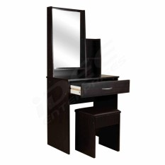 Tailee Furniture 1503 Dressing Table With Stool And Mirror Wenge