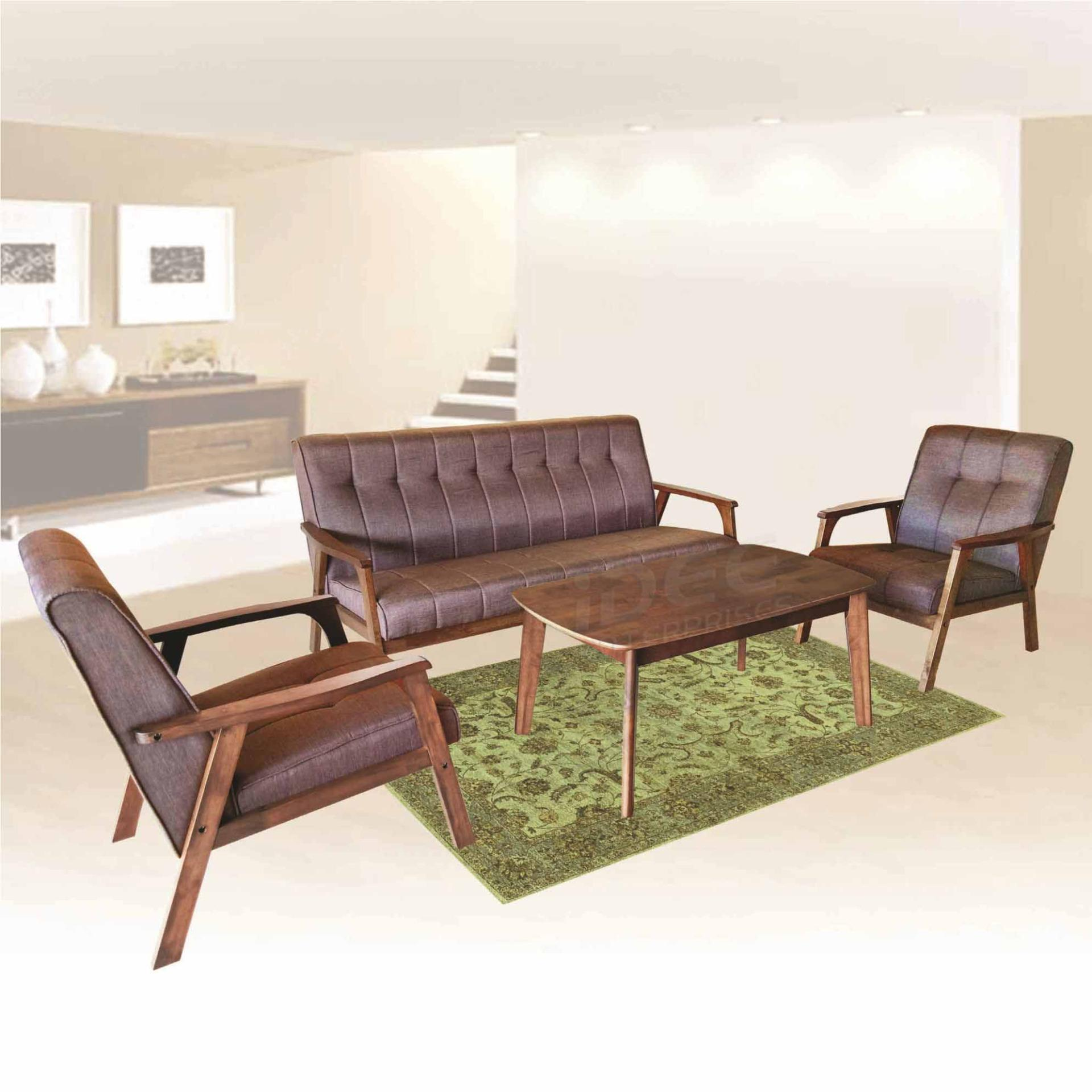 Tailee Matilda 3 1 1 Seater Fabric Sofa Set With Center Table  ~ Sofa Set With Center Table