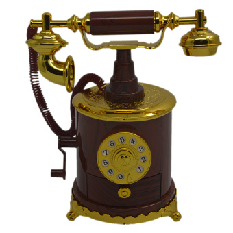 Telephone Hand Crank Antique Music Box Personalized Gifts Home Decoration Items