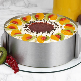 Telescopic round cake ring mousse Mold
