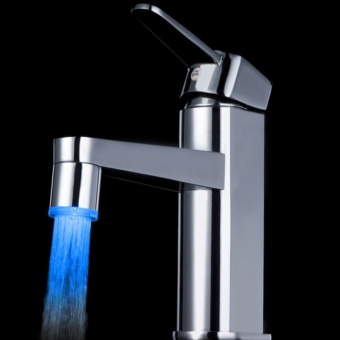 Temperature Sensor 7 Color Kitchen Water Tap Faucet Glow Shower LED Light A - intl - 3