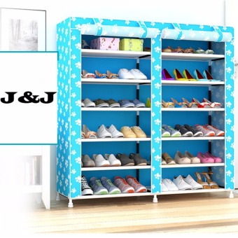Than's 6-Tier Double cabinet Shoe Rack Storage Cabinet Organizer