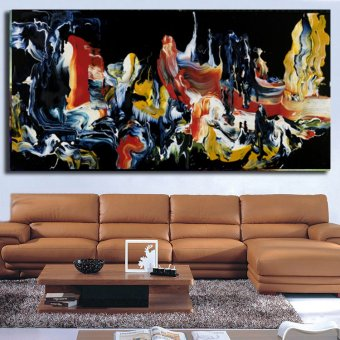 The most famous living room painting Abstract Art wall painting forhome decor ideas print on canvas oil painting No Framed - 2