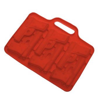 Thermo Plastic Rubber Ice Cube Mold Tray Maker - Random color - picture 2