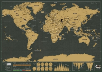 ThinkMax Scratch Off World Map Deluxe Edition Poster Personalized Travel Vacation - intl - 4