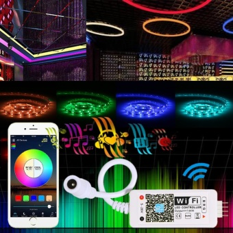 Tomshine DC5-28V Mini RGB Wifi Smart Controller Dimmer Output 3Channels Working for Android /