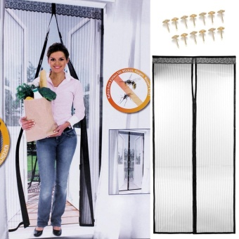 Topsellers365 Mesh Magnetic Screen Net Anti Mosquito Bug Fly Protection Door Curtain - intl