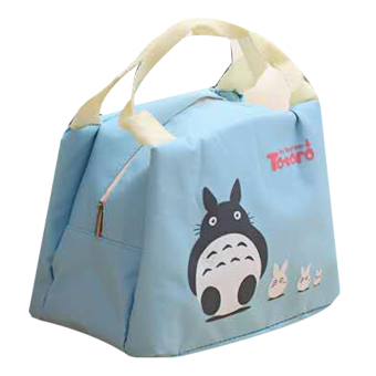 Totoro Lunch Box Storage Bag (Light Blue)