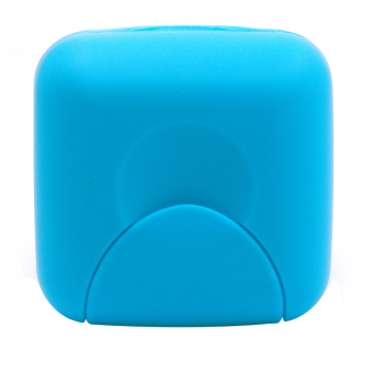 Travel Plastic Soap Box Dish Holder Container Storage Box With LockSmall Size Blue