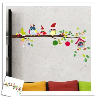 Tree Owl Wall Sticker Baby Kids Decal Mural Christmas Decor - intl