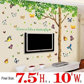Tree Wall Stickers 310x204cm Extra Large Home Decoration LivingRoom Background TV Sofa Fresh Green Leaves Tree Wall Decal Vinyl - 2