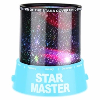 Trendsetter Beautiful Design Colorful Cosmos Star Sky MasterProjector LED Night Light-Light Blue