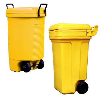 Trolley Bin (Yellow) and Roller King Large (Yellow)