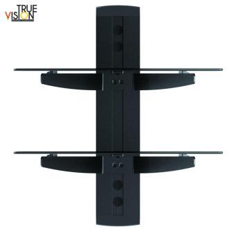 True Vision DVD212 DVD/AV Wall Mount Double Shelf (Black) - 2