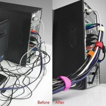 TTmall 50pcs Reusable Self Adhesive Velcro Hook Loop Fastener NylonCable Velcro Magic Tape Adhesive Straps Fastener - intl - 4