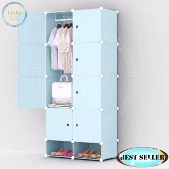 Tupper Cabinet 8 cubes Blue Doors Blue DIY Storage Cabinet with Shoe Rack (Blue) Price Philippines
