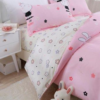 Two-tone Pattern Sanding Cotton Duvet/Quilt Cover Full Queen KingSize - intl - 4
