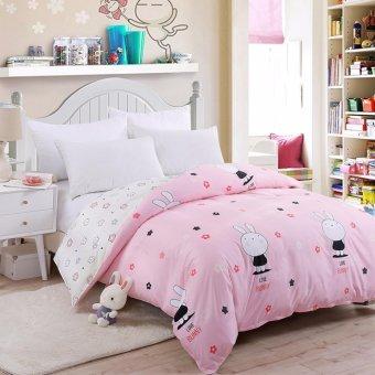 Two-tone Pattern Sanding Cotton Duvet/Quilt Cover Full Queen KingSize - intl - 2