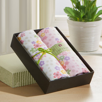 Uchino soft absorbent cotton ancient series Towel Gift Box