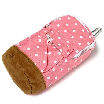 UJS Lovely Cute Mini School Bag Pen Case Students Canvas Pencil Case Cosmetic Bag (Intl)