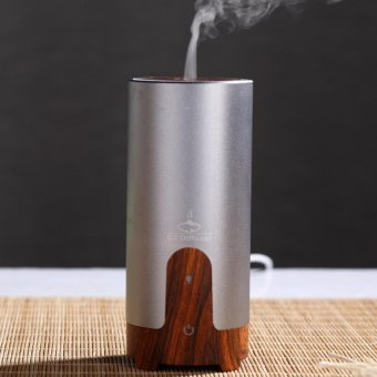 Ultrasonic Aroma Air Humidifier Oil Diffuser Mist Maker For HomeCar (Grey)