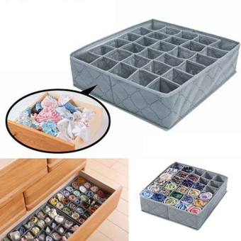 Underwear Ties Socks Drawer 30 Cell Bamboo Charcoal Closet Storage box (Intl) - picture 2
