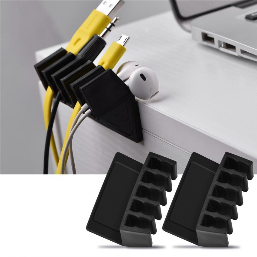 Universal Office Wire Cable Clips Desktop Cord Divider Cable ...