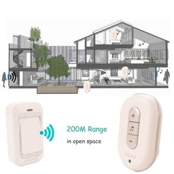 US Plug No Need Battery waterproof wireless doorbell 200M range AC 110-220V Electric Door bell door chime Home & Living 1 Button 2 receiver - intl - 3