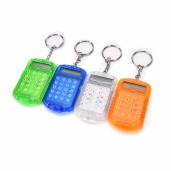 Useful Plastic Pocket With Keyring 8 Digit Display LCD Screen MiniCalculators - intl - 2