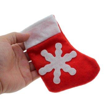 Vanker 1Pc Dinner Table Decor Christmas Sock Tableware Silverware Holder Pocket Bag - picture 2