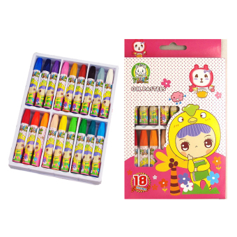 Velishy Watercolor Crayons Non-TOXIC 18 Assorted Colors Pink