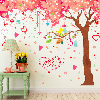 Very Large Cherry Wall Decoration Stickers (Pink-12) - 2