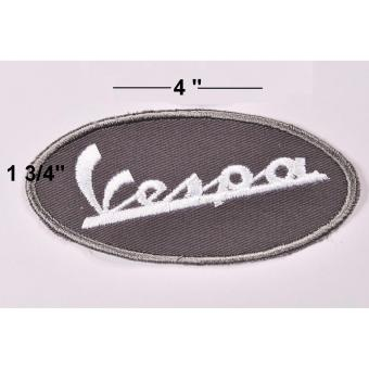 Vespa Racing Team Cloth Patch & Vespa Script Embroidered PatchSet (Get 2) - 5