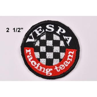 Vespa Racing Team Cloth Patch & Vespa Script Embroidered PatchSet (Get 2) - 4