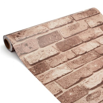 Vintage 3D Brick Wallpaper Roll 45cmx10m Brickwork Self-adhesiveWall Paper Roll Home Shop Decoration Waterproof Wall Stickers -intl
