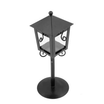 Vintage Street Lamp Design Candle Holder Tea Light Candlestick Stand - Black - 5