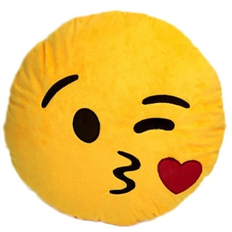 Vococal Emoji Cool Kiss Expression Soft Plush Cushion - picture 2