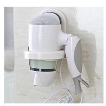 Wall-mounted Sucker Hair Dryer Holder Stand Rack (White) Price Philippines