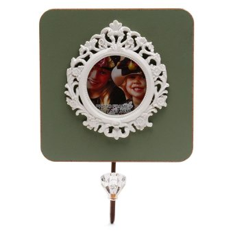 Wall Type Picture Frame with Bag Hook or Cloth Rack (Green) - Hannah's Gift