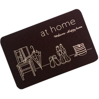 Wallmark At Home Chocolate Brown Stylish Doormat - 2