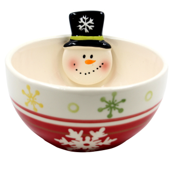 "Wallmark Collectible ""Soldier with Snowflakes"" Christmas Bowl (Red)"