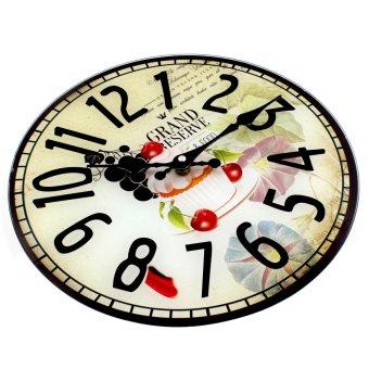 Wallmark Dessert Tempered Glass Creative Wall Clock - 2